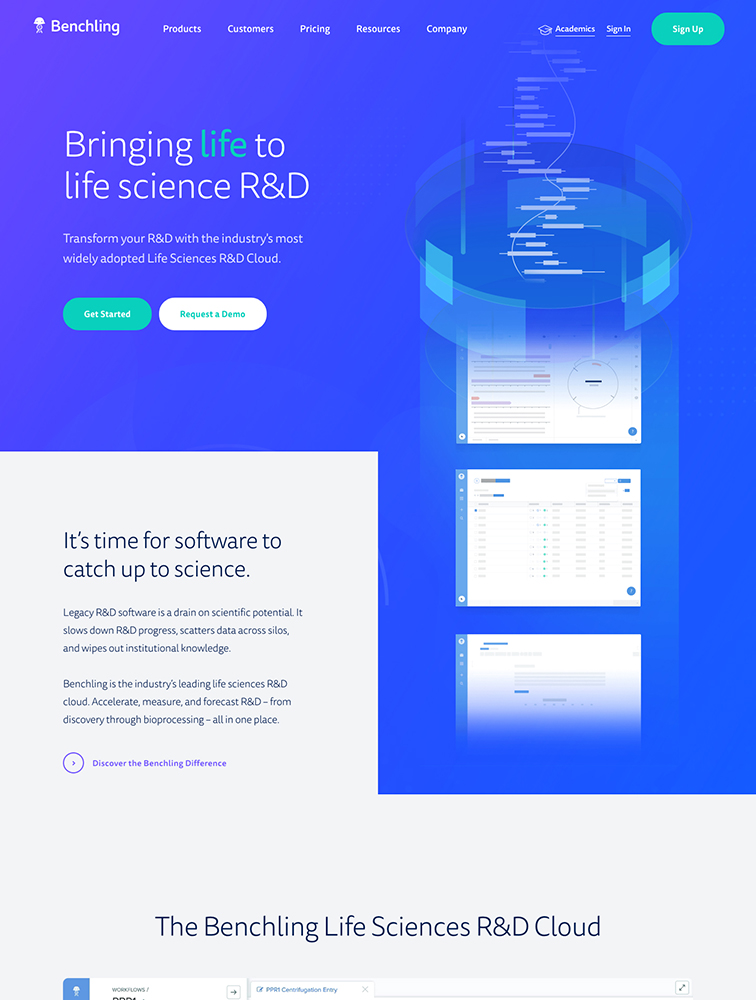 Benchling Landing Page Example