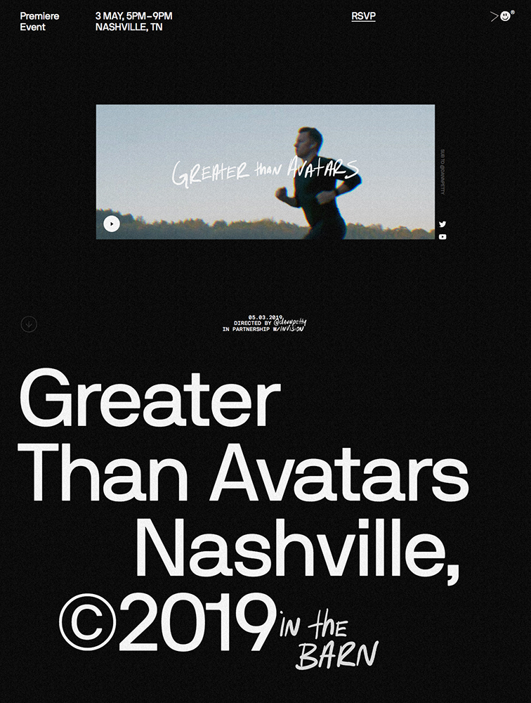 Greater Than Avatars Landing Page Example