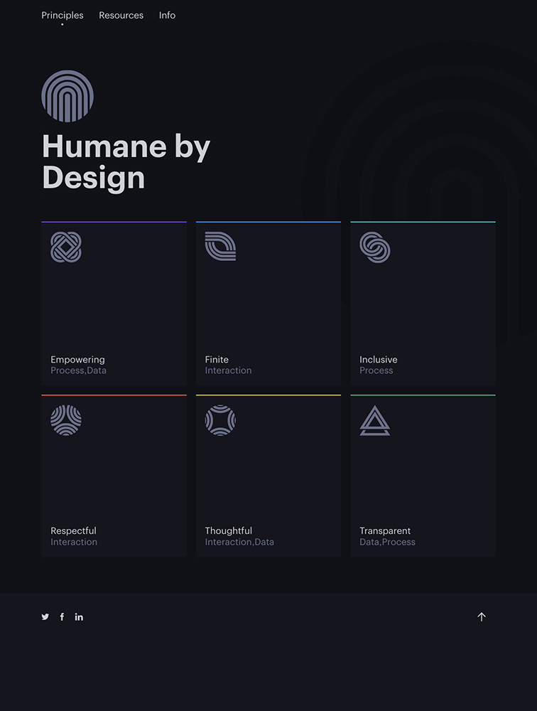 Humane by Design Landing Page Example